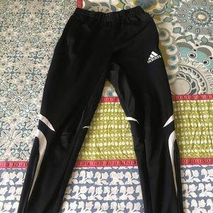 ADIDAS sweatpants black and white S